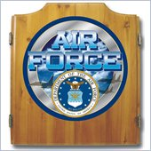 Trademark US Air Force Dart Cabinet includes Darts and Board