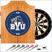 Trademark BYU Dart Cabinet - Darts and Board