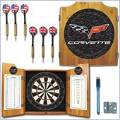 Trademark Corvette Model C6 Dart Cabinet with board and darts