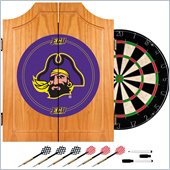 Trademark East Carolina University Dart Cabinet - Includes Darts and Board
