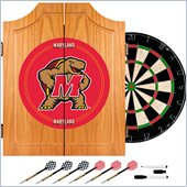 Trademark Maryland University Dart Cabinet - Includes Darts and Board