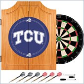 Trademark Texas Christian University Dart Cabinet with Darts and Board