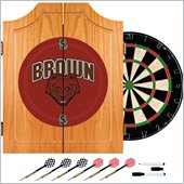 Trademark Brown University Dart Cabinet with Darts and Board