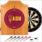 Trademark Arizona State University Dart Cabinet with Darts and Board