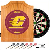 Trademark Central Michigan University Dart Cabinet w/ Darts and Board