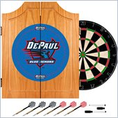 Trademark DePaul University Dart Cabinet with Darts and Board