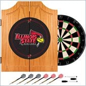 Trademark Illinois State University Dart Cabinet with Darts and Board