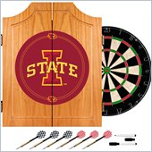Trademark Iowa State University Dart Cabinet with Darts and Board