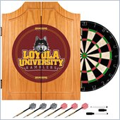 Trademark Loyola University Chicago Dart Cabinet with Darts and Board