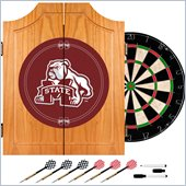 Trademark Mississippi State University Dart Cabinet w/ Darts and Board