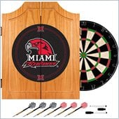 Trademark Miami University, Ohio Dart Cabinet With Darts and Board