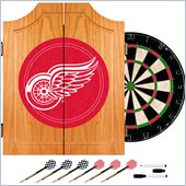 Trademark NHL Detroit Redwings Dart Cabinet includes Darts and Board