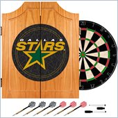 Trademark NHL Dallas Stars Dart Cabinet includes Darts and Board