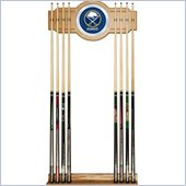 Trademark NHL Buffalo Sabers 2 piece Wood and Mirror Wall Cue Rack