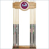 Trademark NHL Colorado Avalanche 2 piece Wood and Mirror Wall Cue Rack