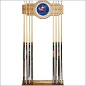 Trademark NHL Columbus Blue Jackets 2 piece Wood and Mirror Wall Cue Rack