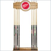 Trademark NHL Detroit Redwings 2 piece Wood and Mirror Wall Cue Rack
