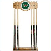 Trademark NHL Minnesota Wild 2 piece Wood and Mirror Wall Cue Rack
