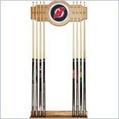 Trademark NHL New Jersey Devils 2 piece Wood and Mirror Wall Cue Rack