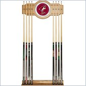 Trademark NHL Phoenix Coyotes 2 piece Wood and Mirror Wall Cue Rack
