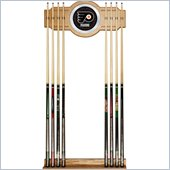 Trademark NHL Philadelphia Flyers 2 piece Wood and Mirror Wall Cue Rack