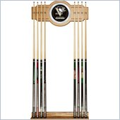 Trademark NHL Pittsburgh Penguins 2 piece Wood and Mirror Wall Cue Rack