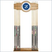 Trademark NHL Tampa Bay Lightning 2 piece Wood and Mirror Wall Cue Rack