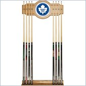 Trademark NHL Toronto Maple Leafs 2 piece Wood and Mirror Wall Cue Rack