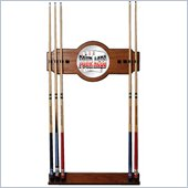 Trademark Four Aces 2 piece Wood and Mirror Wall Cue Rack