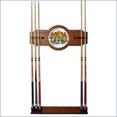 Trademark Texas Hold 'em 2 piece Wood and Mirror Wall Cue Rack