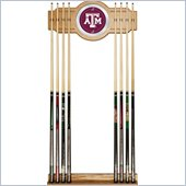 Trademark Texas A&M University 2 piece Wood and Mirror Wall Cue Rack