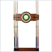 Trademark Nine Ball 2 piece Wood and Mirror Wall Cue Rack