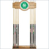 Trademark University of North Dakota Wood and Mirror Wall Cue Rack