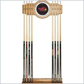 Trademark Illinois State University Wood and Mirror Wall Cue Rack