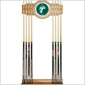 Trademark Tulane University Wood & Mirror Wall Cue Rack