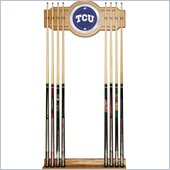 Trademark Texas Christian University Wood & Mirror Wall Cue Rack