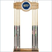 Trademark University of Pittsburgh Wood & Mirror Wall Cue Rack
