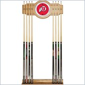 Trademark University of Utah Wood & Mirror Wall Cue Rack