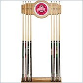 Trademark Ohio State University Wood and Mirror Wall Cue Rack