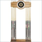 Trademark NHL Boston Bruins 2 piece Wood and Mirror Wall Cue Rack
