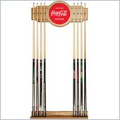 Trademark Coca Cola Vintage 2 piece Wood and Mirror Wall Cue Rack