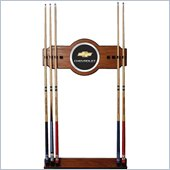 Trademark Chevrolet 2 piece Wood and Mirror Wall Cue Rack