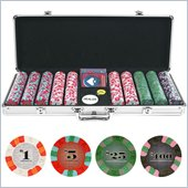 Trademark 500 Chip NexGenT PRO Classic Style Set - Aluminum Case