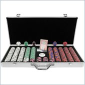 Trademark 650 Chip Tri-Color Triple Crown Set w/Aluminum Case