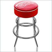 Trademark Global Retro 30H NHL Detroit Redwings Padded Bar Stool
