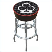 Trademark Retro Four Aces Club Logo Padded Bar Stool
