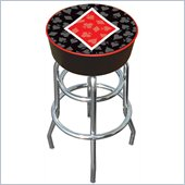 Trademark Retro Four Aces Diamond Logo Padded Bar Stool