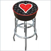 Trademark Retro Four Aces Heart Logo Padded Bar Stool