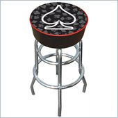 Trademark Retro Four Aces Spade Logo Padded Bar Stool