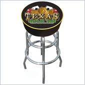 Trademark Retro Tradmark Texas Hold 'em Logo Padded Bar Stool